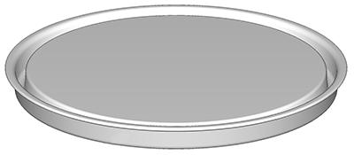 Couvercle pression pour seau ou boite métallique