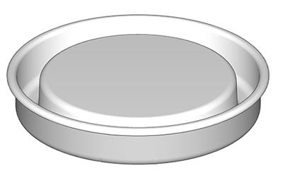 Bouchon pression pour boite métallique