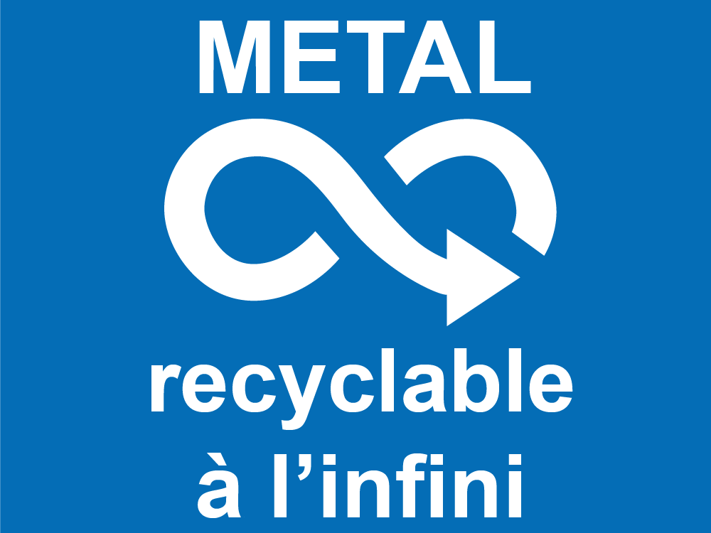 Metal recyclable à l'infini